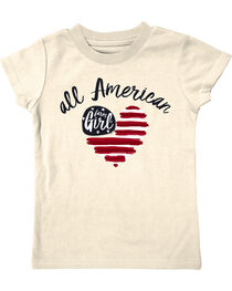Farm Girl Toddler Girls' All American Tee, Ivory, hi-res