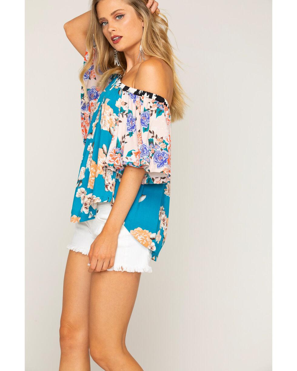 Shyanne Women's Mixed Floral Print Off-The-Shoulder Top, Multi, hi-res