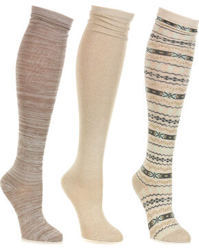 Shyanne® Women's Knee High Sock Set, No Color, hi-res