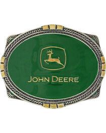 Montana Silversmiths Men's Silver John Deere Belt Buckle , , hi-res