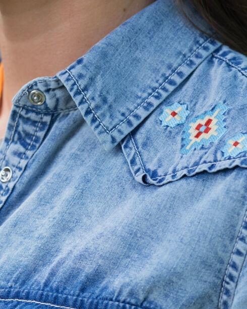 Ryan Michael Women's Indigo Embroidered Shirt , Indigo, hi-res