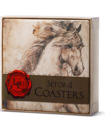 Big Sky Carvers Leonardo's Horse Sentiments Coaster Set, , hi-res