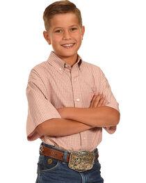 Panhandle Boys' Button Down Plaid Shirt , , hi-res