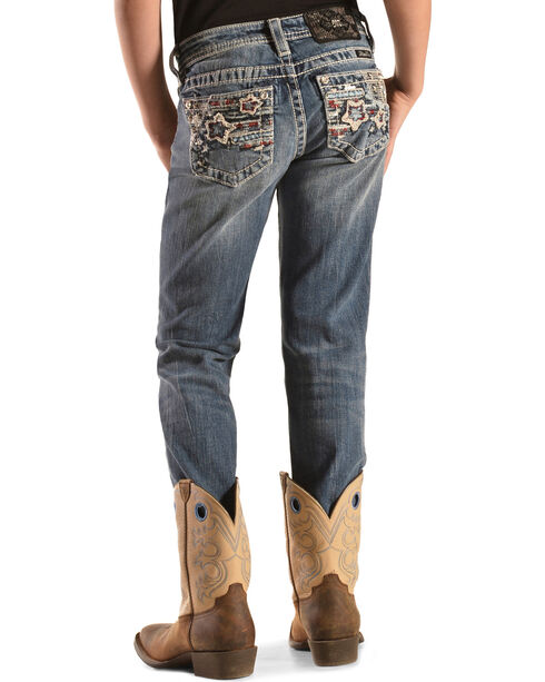 Miss Me Girls' Stars & Stripes Skinny Jeans, Denim, hi-res