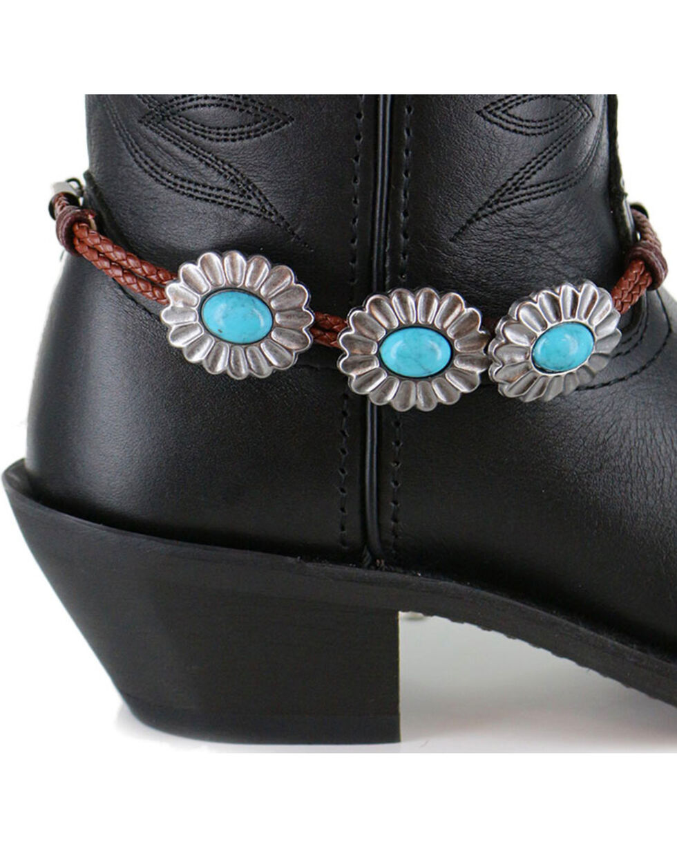 Shyanne® Women's Turquoise Concho Boot Bracelet, Brown, hi-res
