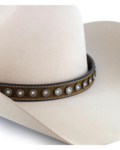 Cody James® Silver Conchos and Crystals Hatband, Brown, hi-res
