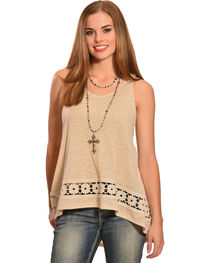 Jody of California Women's Crochet Tank Top, , hi-res