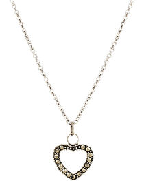 Montana Silversmiths Women's Sparks Will Fly Night's Heart Necklace, , hi-res