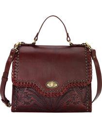 American West Women's Crimson Hidalgo Top Handle Convertible Flap Bag , , hi-res