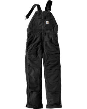 Carhartt Men's Flame Resistant Duck Overalls, Black, hi-res