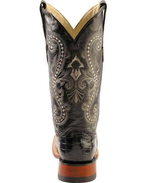 Ferrini Women's Gator Print Western Boots, Black, hi-res