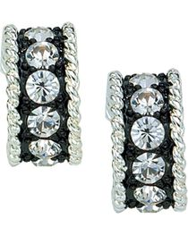 Montana Silversmiths Women's Crystal Shine Small Loop Earrings, , hi-res