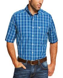 Ariat Men's Blue Short Sleeve Derek Shirt, , hi-res