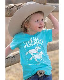 Cruel Girl Toddler Girls' Blue Wild Horses Tee , , hi-res