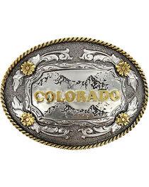 Cody James® Oval Dual-Tone Colorado Buckle, , hi-res