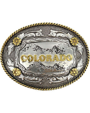 Cody James® Oval Dual-Tone Colorado Buckle, Multi, hi-res