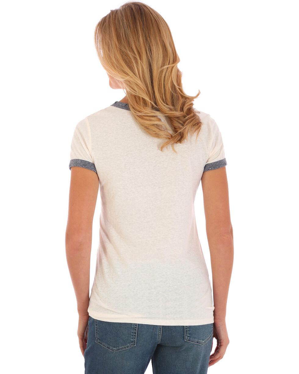 Wrangler Women's Ringer Graphic Tee, White, hi-res