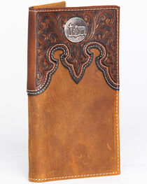 Cody James® Men's Cross Concho Checkbook Cover/Rodeo Wallet, , hi-res
