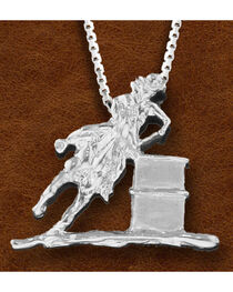 Kelly Herd Women's Sterling Silver Large Barrel Racer Necklace, , hi-res