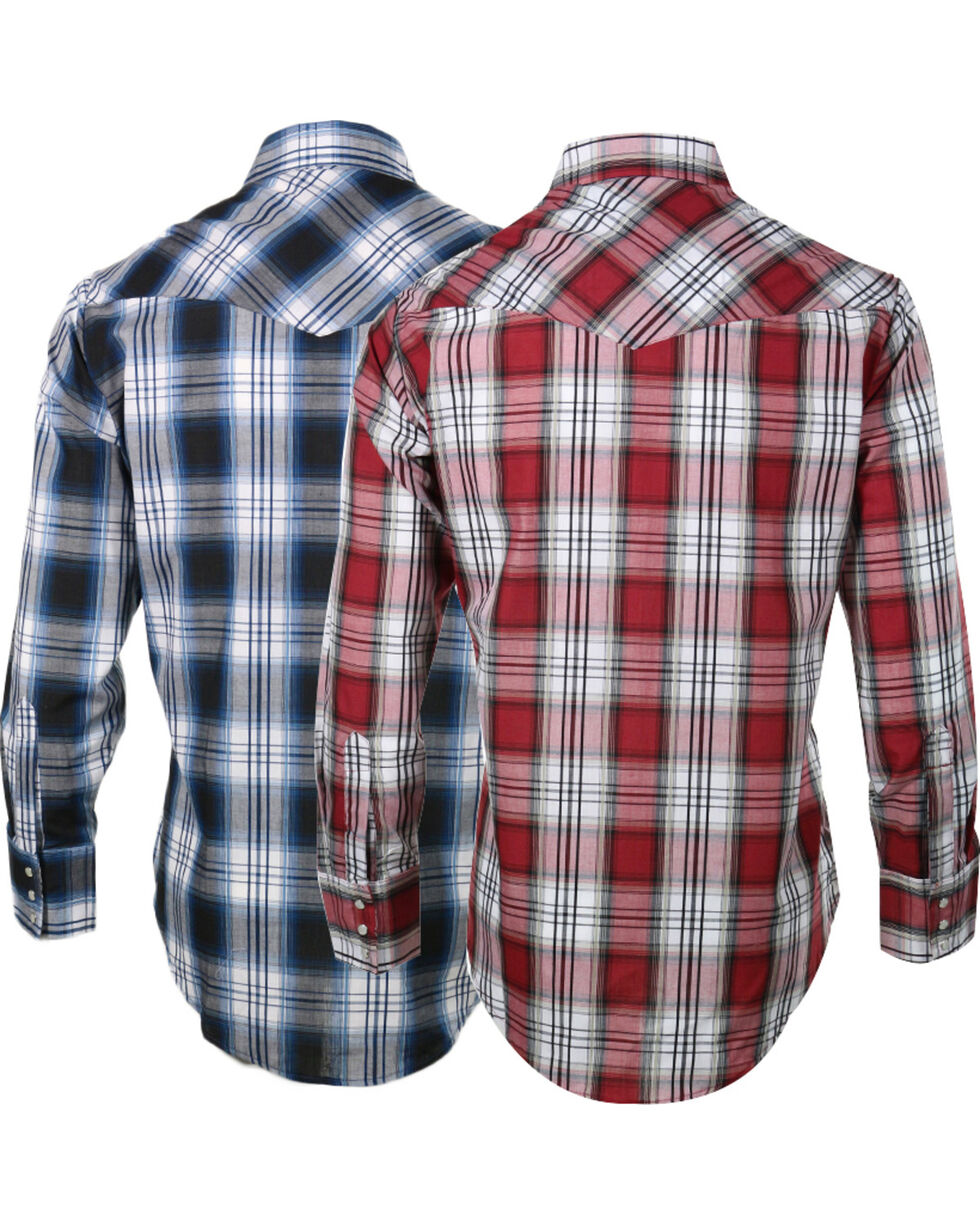 Ely Cattleman Men's Assorted Sawtooth Plaid Long Sleeve Shirt, Multi, hi-res
