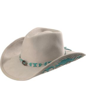 Bullhide Grey Natural Beauty Wool Cowgirl Hat, Silverbelly, hi-res