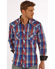 Rock & Roll Cowboy Men's Long Sleeve Snap Shirt , , hi-res
