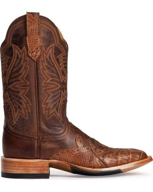 Cinch Men's Classic Wingtip Caiman Exotic Boots, Chocolate, hi-res
