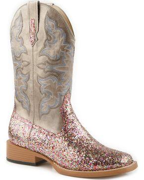 Roper Women's Glitter Western Boots, Grey, hi-res