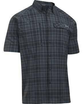 Under Armour Men's Charcoal Grey Fish Hunter Shirt, , hi-res