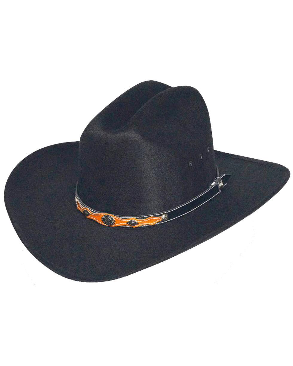 Western Express Men's Black Faux Felt Cowboy Hat , Black, hi-res