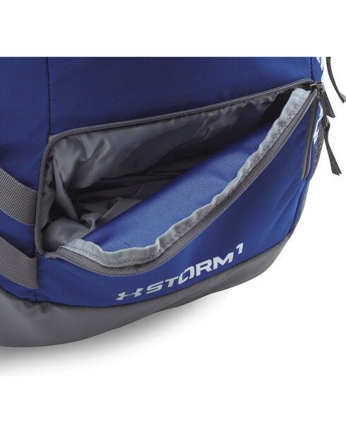 Under Armour Royal Blue Storm Hustle II Backpack , Royal, hi-res