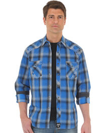 Wrangler Rock 47 Men's Plaid Two Pocket Snap Shirt - Big & Tall, , hi-res