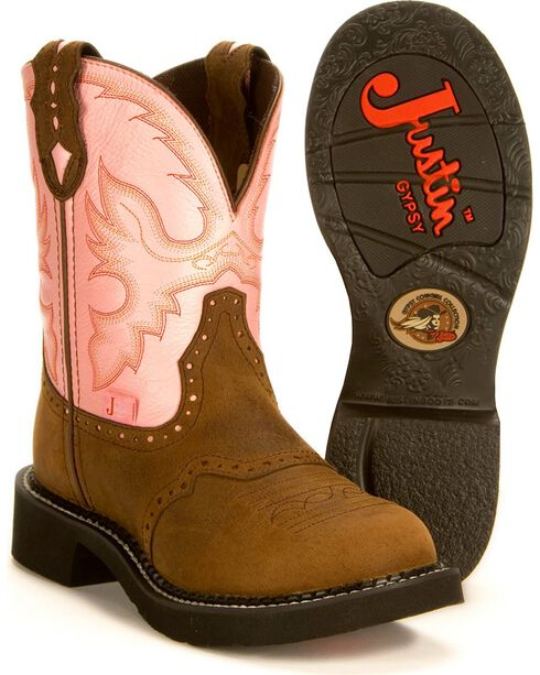 "Justin Women's Gypsy Collection 8"" Western Boots, Bay Apache, hi-res"