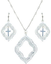 Montana Silversmiths Women's Looking Through To Faith Jewelry Set , , hi-res