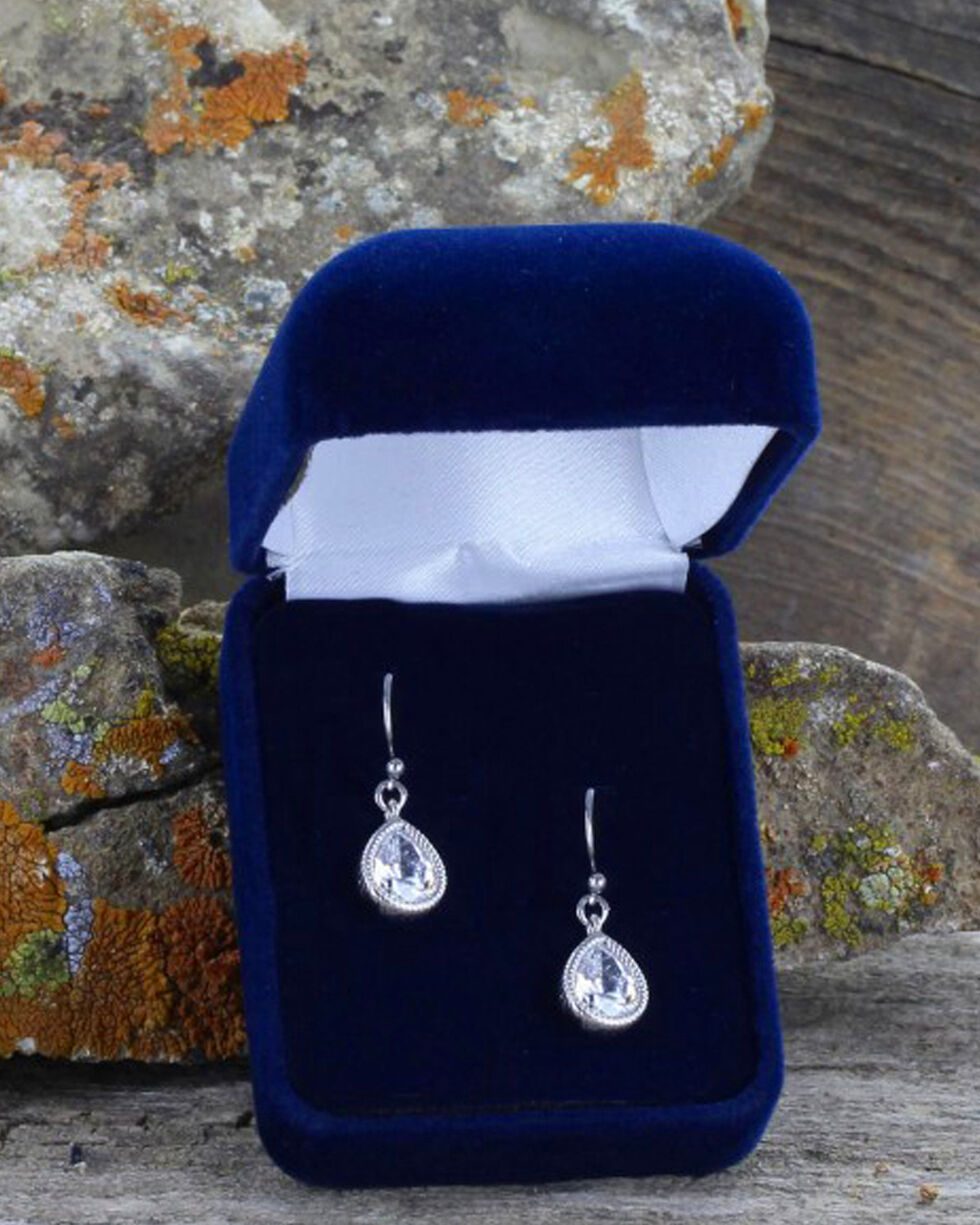 Montana Silversmiths Women's Western Teardrop Earrings , Silver, hi-res