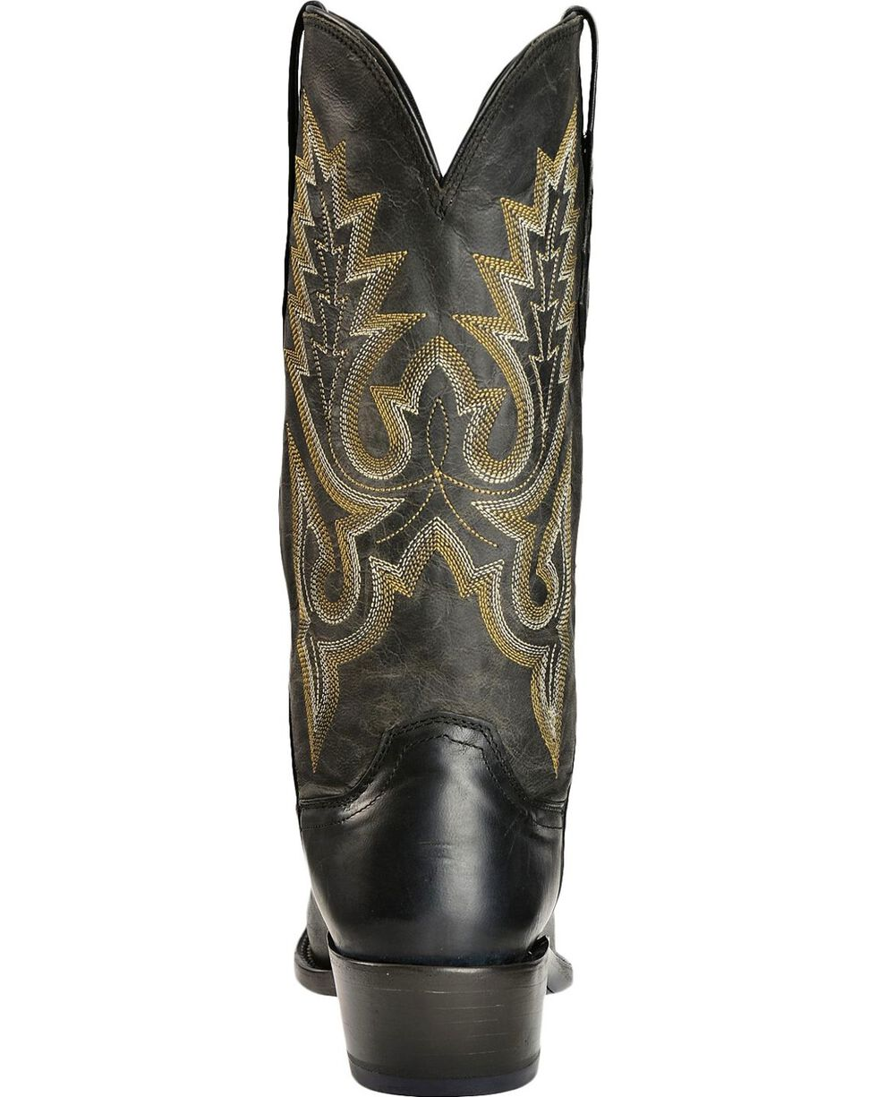 Lucchese Men's Western Boots, Black, hi-res