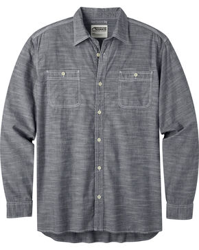 Mountain Khakis Men's Chambray Long Sleeve Shirt, Navy, hi-res