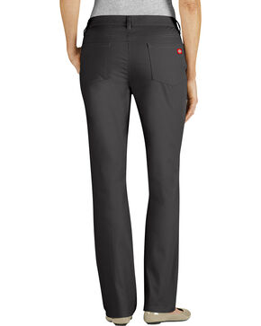 Dickies Women's Slim Fit 5-Pocket Stretch Twill Pants, Black, hi-res