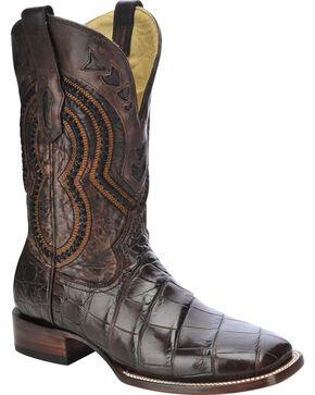 Corral Men's Alligator Exotic Boots, Chocolate, hi-res