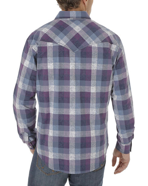 Wrangler Retro Men's Plaid Long Sleeve Shirt, Navy, hi-res