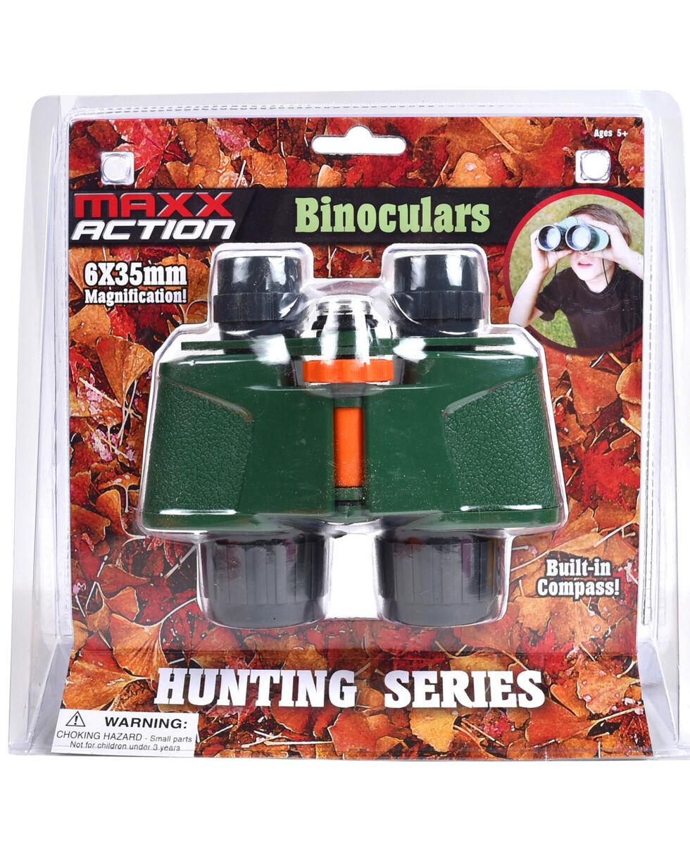 Maxx Action Adventure Binoculars With Built In Compass, Green, hi-res
