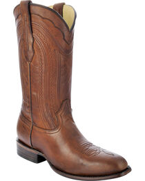 Corral Men's Burnished Leather Square Toe Western Boots, , hi-res
