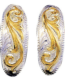 Montana Silversmiths Women's Small Scroll Western Earrings, , hi-res