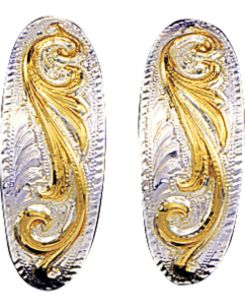 Montana Silversmiths Women's Small Scroll Western Earrings, Multi, hi-res