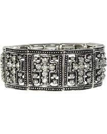 Shyanne® Women's Rhinestone Cross Bracelet, , hi-res