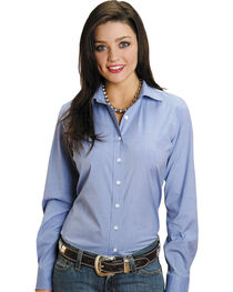 Stetson Women's End on End Solid Button-Down Shirt, , hi-res