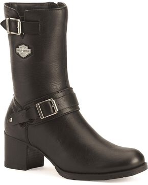 Harley-Davidson Women's Serita Fashion Motorcycle Boots, Black, hi-res