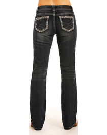 Rock & Roll Cowgirl Women's Dark Wash Riding Jeans - Boot Cut , , hi-res