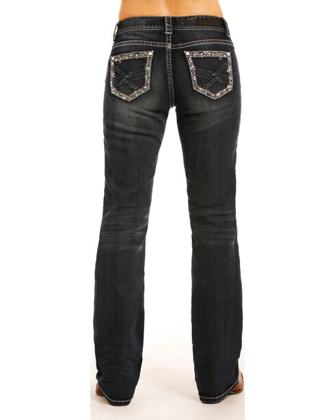 Rock & Roll Cowgirl Women's Dark Wash Riding Jeans - Boot Cut , Indigo, hi-res