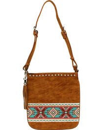 Blazin Roxx Shania Collection Aztec Ribbon Messenger Bag, , hi-res
